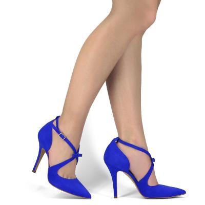 zapatos de color azul eléctrico para mujer